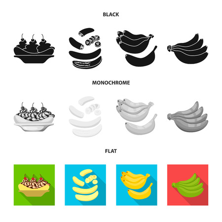 Isolated object of natural and vegetarian logo. Collection of natural and eating stock symbol for web. Illustration