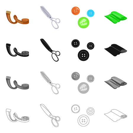 Vector illustration of craft and handcraft icon. Collection of craft and industry stock symbol for web.
