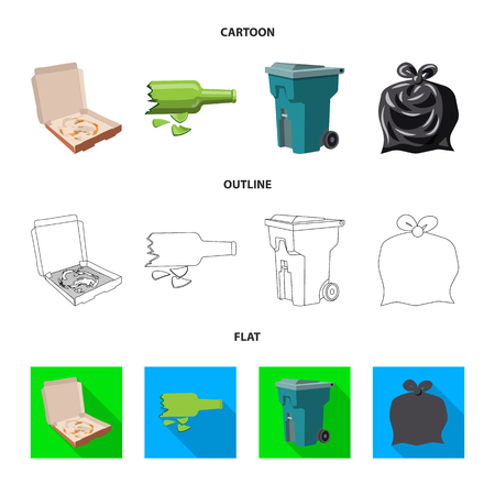 Vector illustration of dump. Set of dump  and junk vector icon for stock.