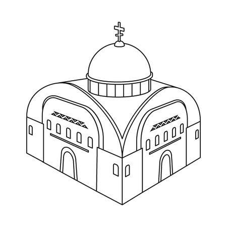 Isolated object of church and orthodox icon. Set of church and chapel stock symbol for web.