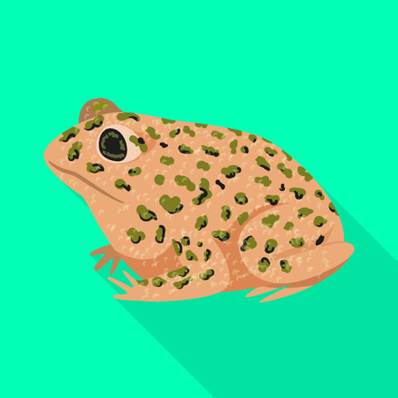 Vector design of toad and tropical icon. Set of toad and points stock symbol for web. Иллюстрация