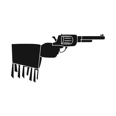 Vector illustration of revolver and gun logo. Collection of revolver and pistol stock symbol for web.
