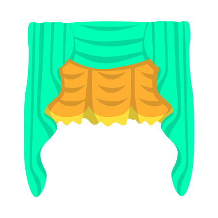 Vector design of curtain. Collection of curtain and textile stock vector illustration.