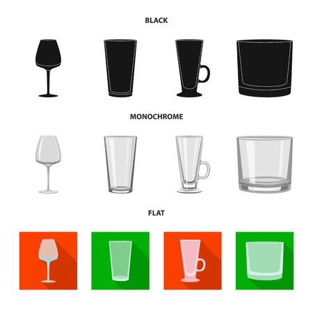 Vector illustration of form and celebration icon. Set of form and volume vector icon for stock.  イラスト・ベクター素材