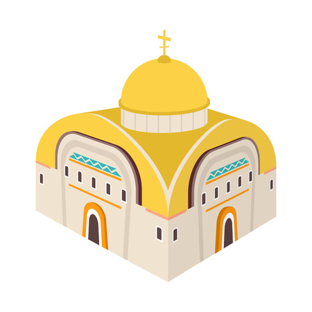 Vector illustration of church and orthodox symbol. Set of church and chapel vector icon for stock.