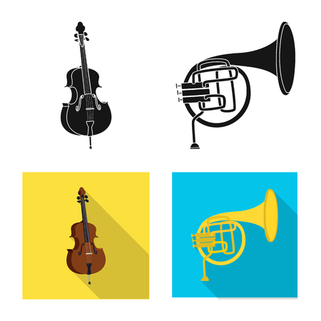 Vector design of music and tune sign. Collection of music and tool vector icon for stock. Ilustrace