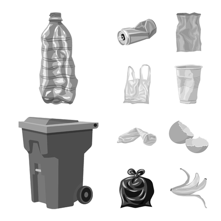 Vector illustration of order and recycling symbol. Collection of order and sort stock vector illustration.