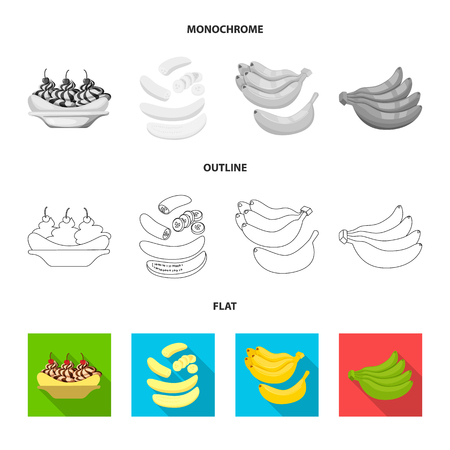 Vector design of natural and vegetarian logo. Set of natural and eating stock symbol for web. Illustration