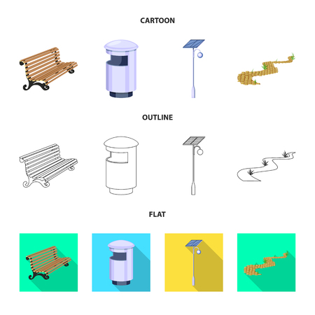 Isolated object of urban and street logo. Collection of urban and relaxation vector icon for stock.