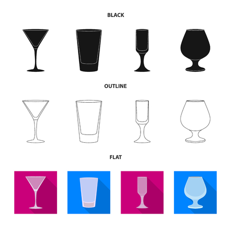 Isolated object of form and celebration sign. Collection of form and volume vector icon for stock. Ilustração