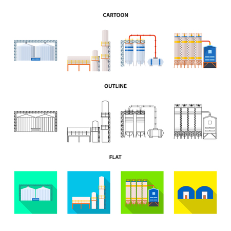 Vector illustration of production and structure icon. Set of production and technology stock vector illustration.