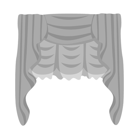 Vector illustration of curtain and window icon. Set of curtain and textile stock vector illustration.