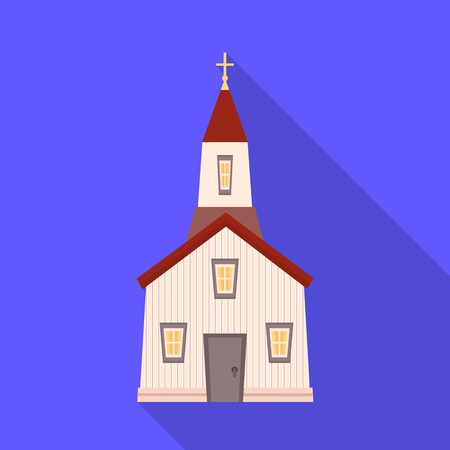 Vector design of church and catholic symbol. Collection of church and prayer stock vector illustration.