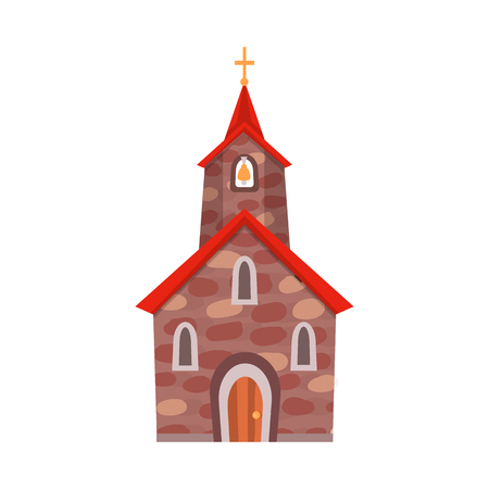 Vector illustration of church and catholic symbol. Collection of church and spiritual vector icon for stock. 矢量图像