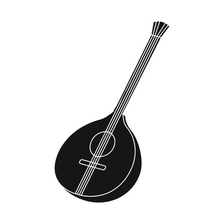 Vector design of guitar and mandolin icon. Collection of guitar and instrument stock symbol for web.