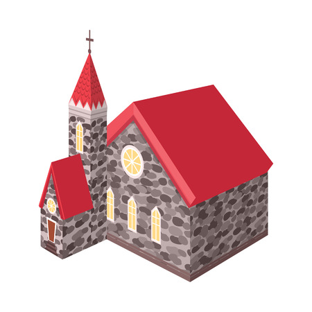 Vector illustration of church and catholic icon. Collection of church and medieval vector icon for stock.