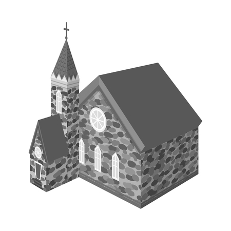 Isolated object of church and catholic sign. Collection of church and medieval stock symbol for web.