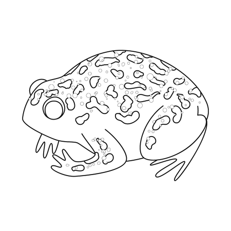 Vector design of toad and tropical icon. Set of toad and green vector icon for stock.