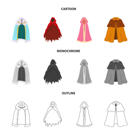 Isolated object of material and clothing symbol. Set of material and garment stock vector illustration.
