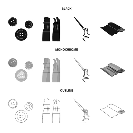Isolated object of craft and handcraft icon. Collection of craft and industry stock vector illustration.