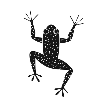 Vector design of toad and green sign. Collection of toad and toxic stock vector illustration. Иллюстрация