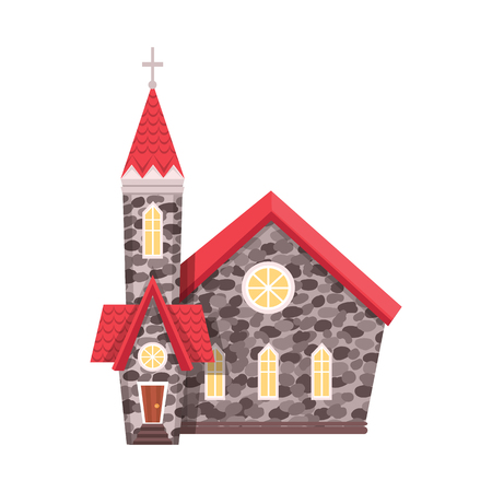 Vector illustration of church and catholic symbol. Collection of church and easter stock vector illustration. Ilustração