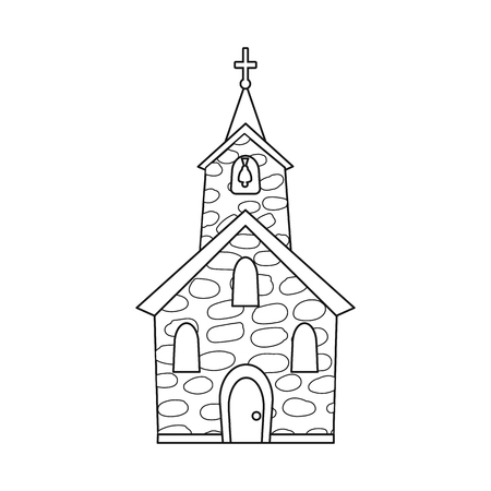 Isolated object of church and catholic symbol. Collection of church and spiritual vector icon for stock. Ilustrace