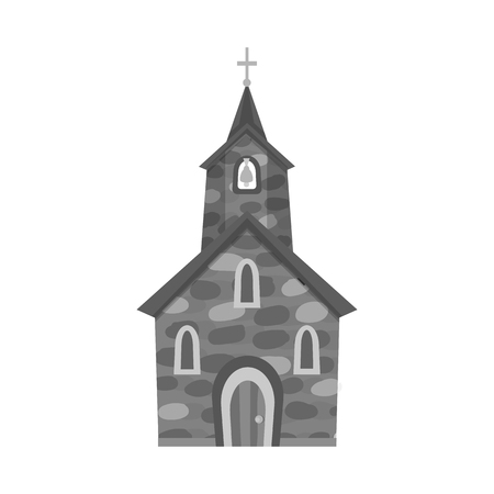 Vector illustration of church and catholic icon. Collection of church and spiritual vector icon for stock. Ilustrace