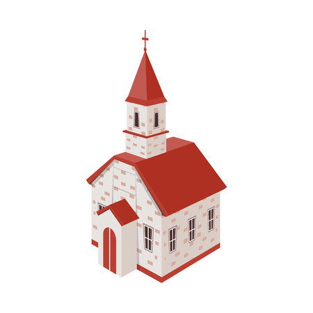 Vector design of church and orthodox symbol. Collection of church and cross vector icon for stock. Stock Illustratie