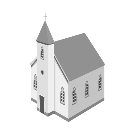 Isolated object of church and catholic symbol. Set of church and steeple stock vector illustration.