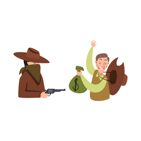 Vector design of robbery and cowboy sign. Set of robbery and bank vector icon for stock. Illustration