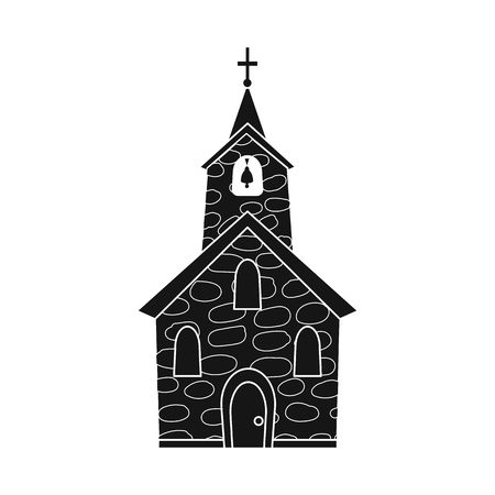 Isolated object of church and catholic icon. Set of church and spiritual stock symbol for web.