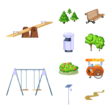 Isolated object of landscape and park icon. Set of landscape and nature vector icon for stock.