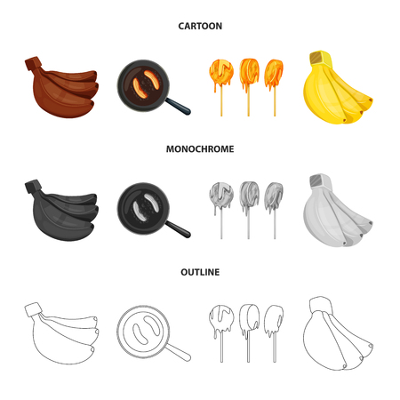 Vector illustration of natural and vegetarian symbol. Collection of natural and eating stock symbol for web.