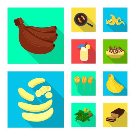 Vektorillustration des natürlichen und vegetarischen Symbols. Satz von natürlichen und essenden Vektorsymbolen für Aktien.