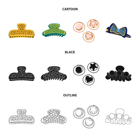 Isolated object of beauty and fashion symbol. Set of beauty and female vector icon for stock.