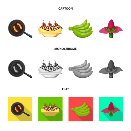 Vector design of natural and vegetarian icon. Set of natural and eating vector icon for stock. Ilustrace