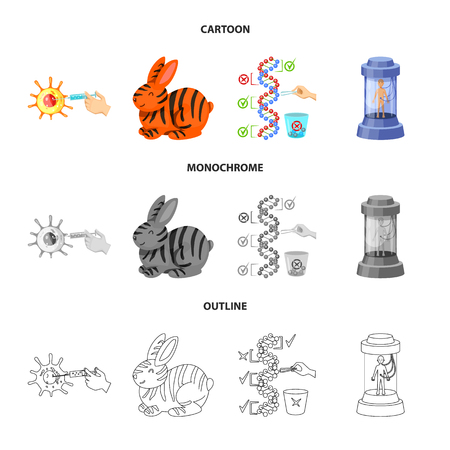 Isolated object of test and synthetic sign. Set of test and laboratory stock symbol for web. Ilustrace