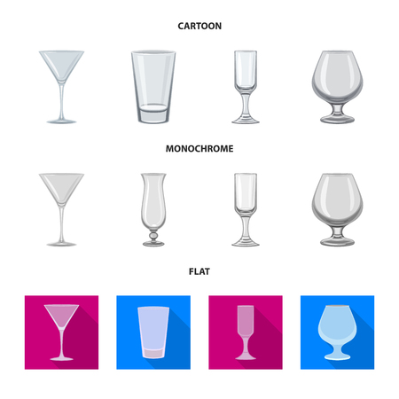 Isolated object of form and celebration sign. Set of form and volume stock vector illustration.