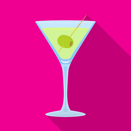 Isolated object of martini and glass logo. Collection of martini and alcohol stock symbol for web. Illustration