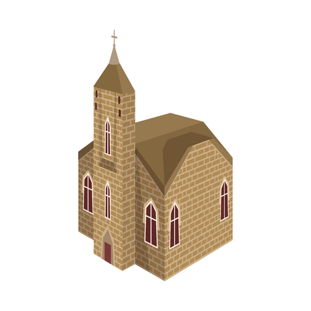 Isolated object of church and catholic icon. Set of church and medieval vector icon for stock.