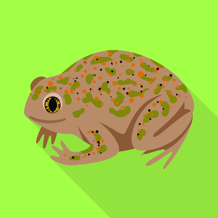 Vector design of toad and tropical sign. Set of toad and green stock vector illustration.