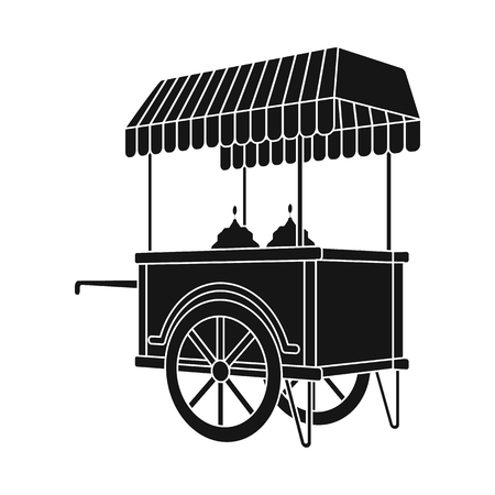 Vector design of cart and mobile icon. Collection of cart and entertainment stock vector illustration.
