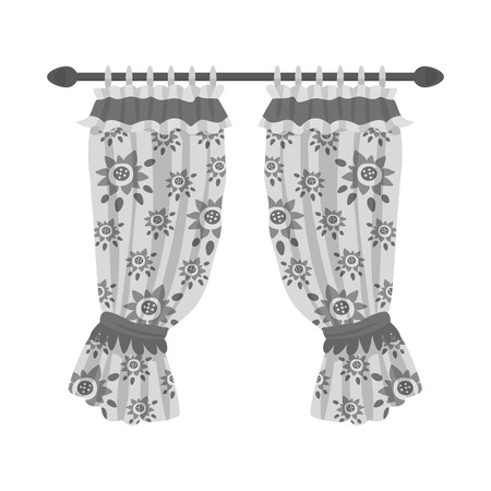 Isolated object of drapes and ribbon sign. Collection of drapes and garter vector icon for stock. Illustration