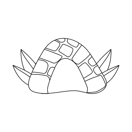Vector design of cave and prehistoric symbol. Collection of cave and rock vector icon for stock.