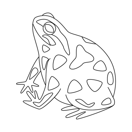 Vector design of toad and biology sign. Collection of toad and tropical stock symbol for web.