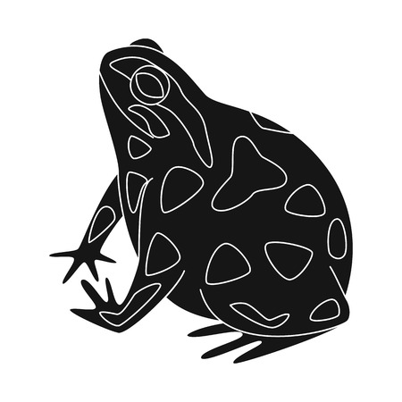Isolated object of toad and biology logo. Collection of toad and tropical stock symbol for web.