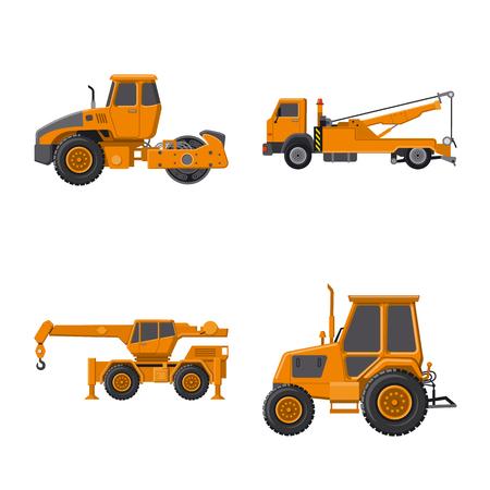 Vector design of build and construction logo. Collection of build and machinery stock vector illustration. Logo