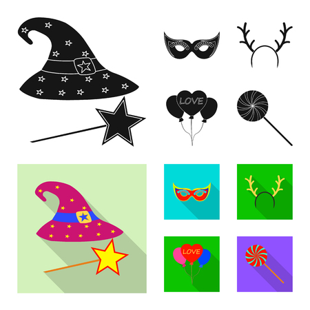 Vector design of party and birthday icon. Set of party and celebration stock symbol for web. 向量圖像