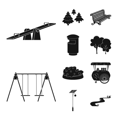 Vector design of public and relaxation symbol. Set of public and park vector icon for stock.